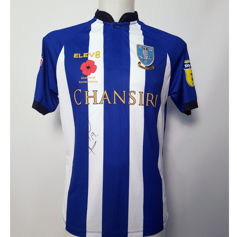 Marco Matias' Sheffield Wednesday Worn and Signed Poppy Home Shirt
