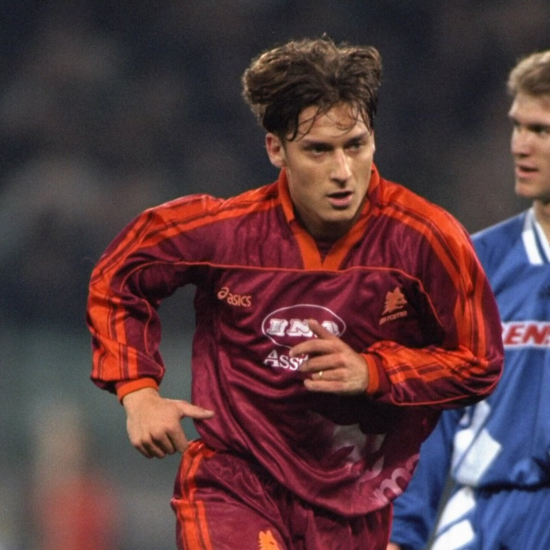 Totti's Roma Worn Signed Shirt, Serie A 1995/96