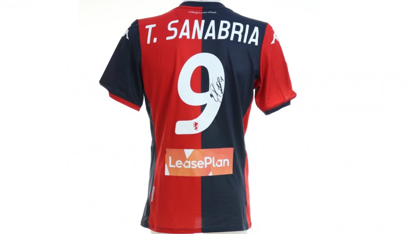 Sanabria's Genoa Match-Issued Signed Shirt, 2019/20