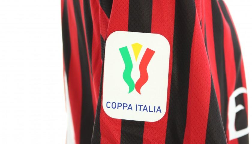 "Kessie's Worn and Signed Shirt, Juventus-Milan - ""Andrà Tutto Bene"""