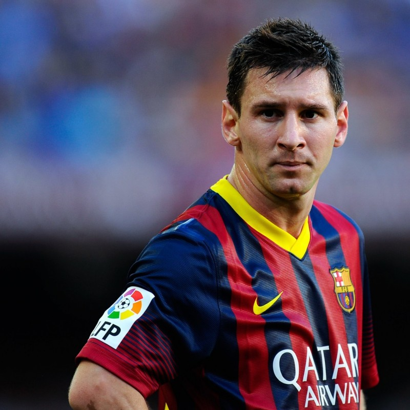 Incontra Leo Messi in occasione di un match del Barcellona