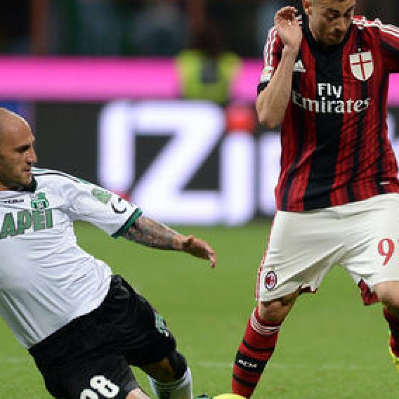 El Shaarawy Milan match worn boots in Milan-Sassuolo 18/5/14, signed - COA