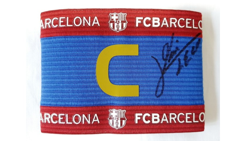 Barcelona Captain's Armband - Signed by Leo Messi