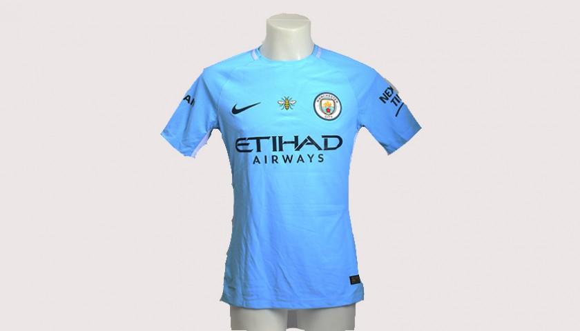 the best attitude 0c293 d3a5c Kevin de Bruyne Match-Worn Signed Manchester Derby Shirt - CharityStars