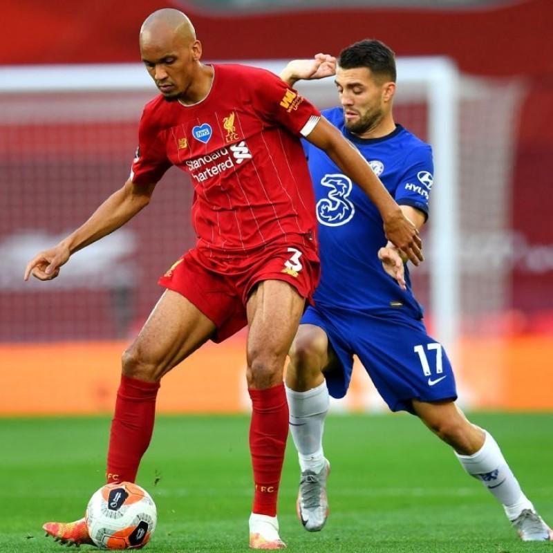 Fabinho's Worn Shirt, Liverpool-Chelsea 2020