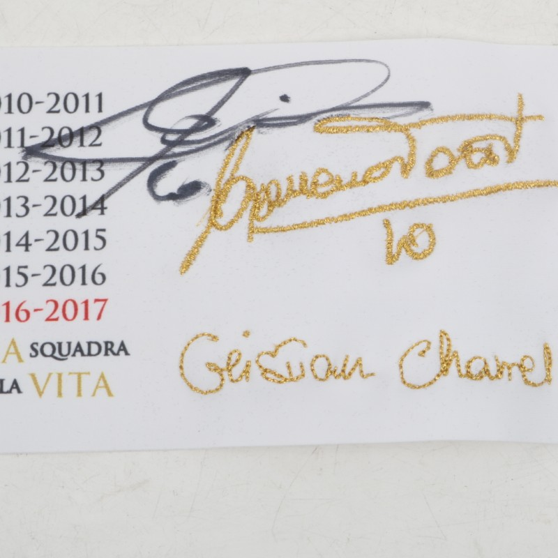 Signed Captain's Armband and Special Edition Francesco Totti Box