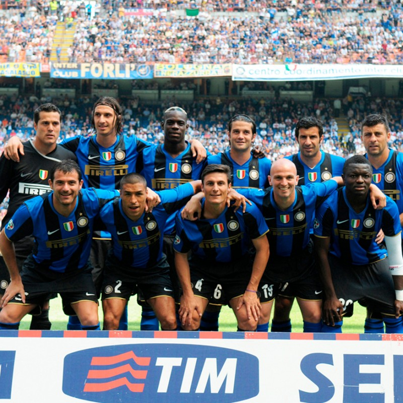 Inter 17th Scudetto Shirt  - Signed by Mourinho and Zanetti