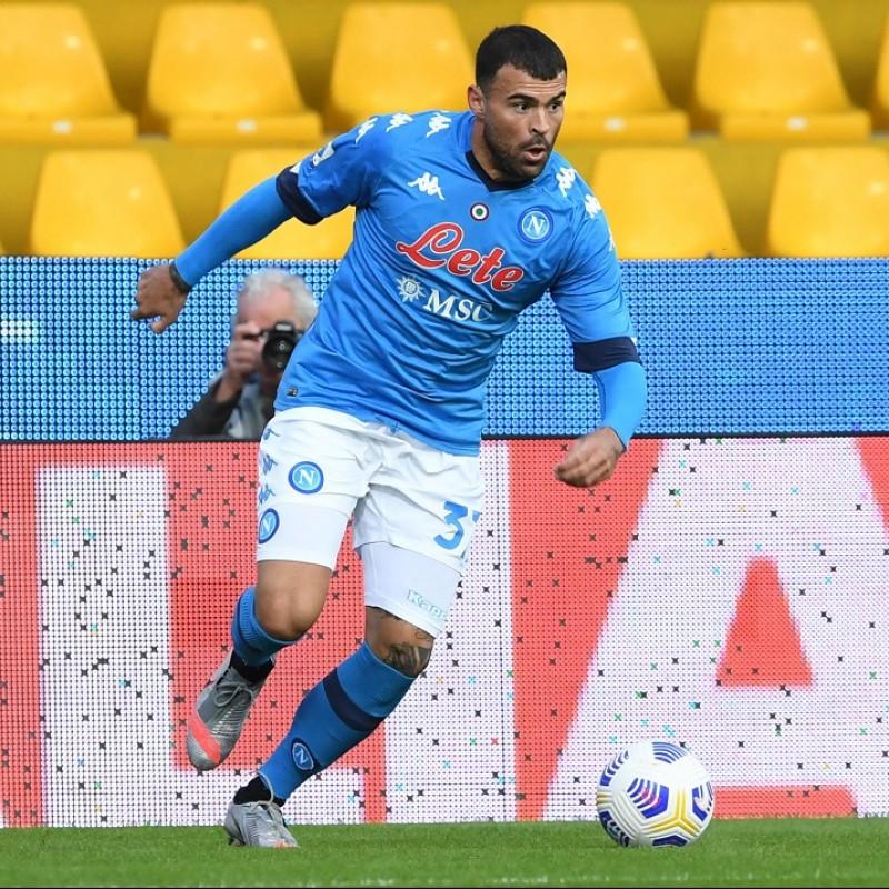 Petagna's Napoli Match Shirt, 2020/21