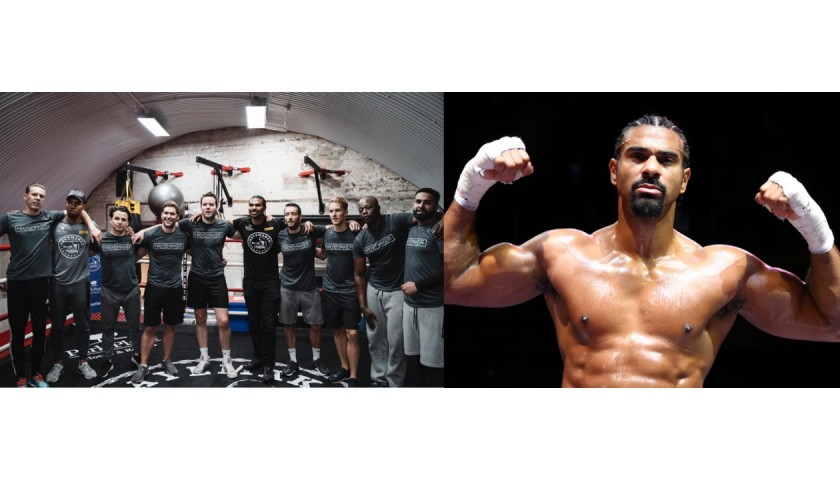 David Haye Gym Training Session for Two People