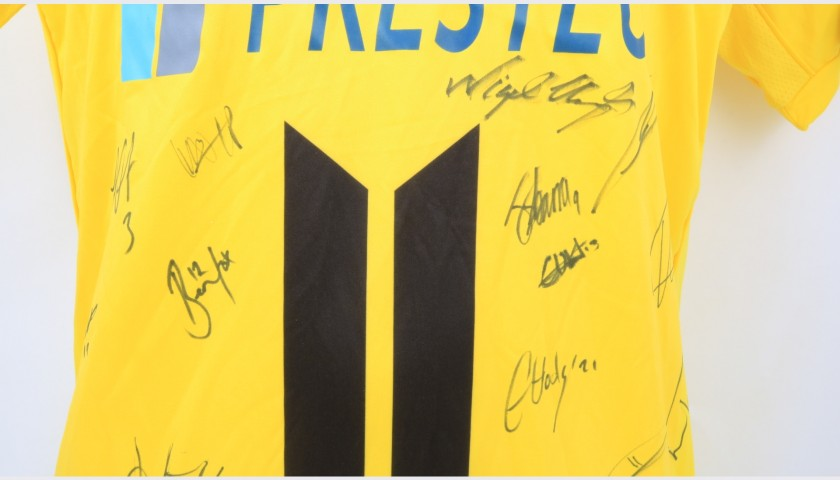 Burton Albion Official Poppy Shirt Signed by the Team