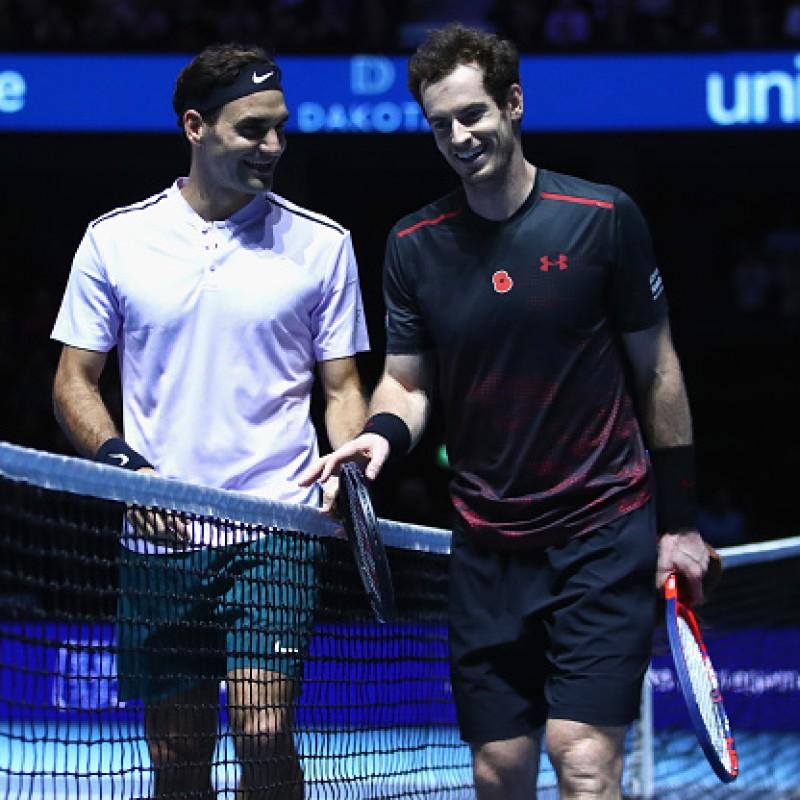 Andy Murray's Poppy Shirt Worn vs Roger Federer