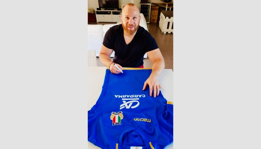 Ghiraldini's Worn and Signed Rugby Shirt, Ireland-Italy 2018