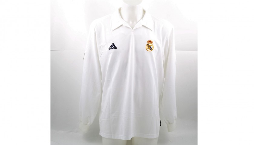 super popular e7b1e 8aff0 Munitis' Real Madrid Match-Issue 2002 Shirt - 100th Anniversary Special  Edition - CharityStars