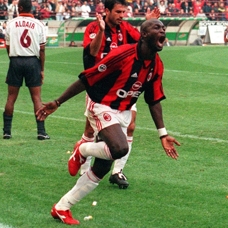 Weah's Milan Worn and Signed Shirt, 1998/99