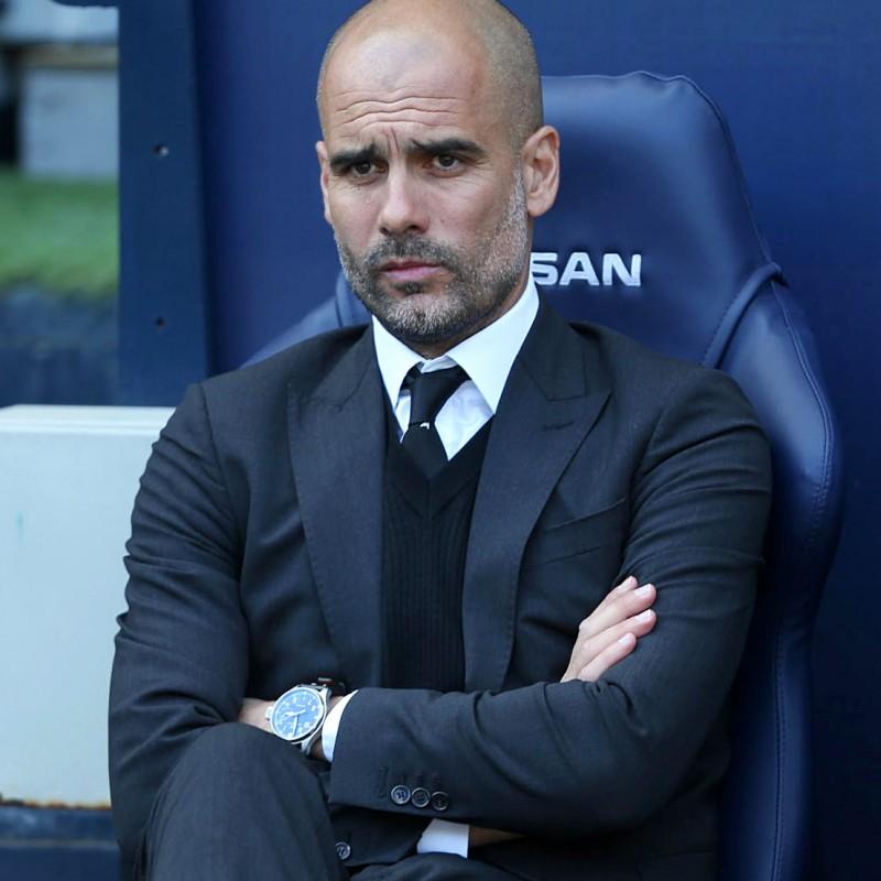 Win Pep Guardiola's Signed Dugout Seat from Etihad Stadium