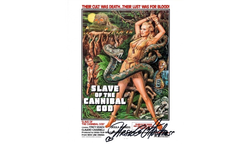 Ursula Andress Signed Photograph - Slave of the Cannibal God