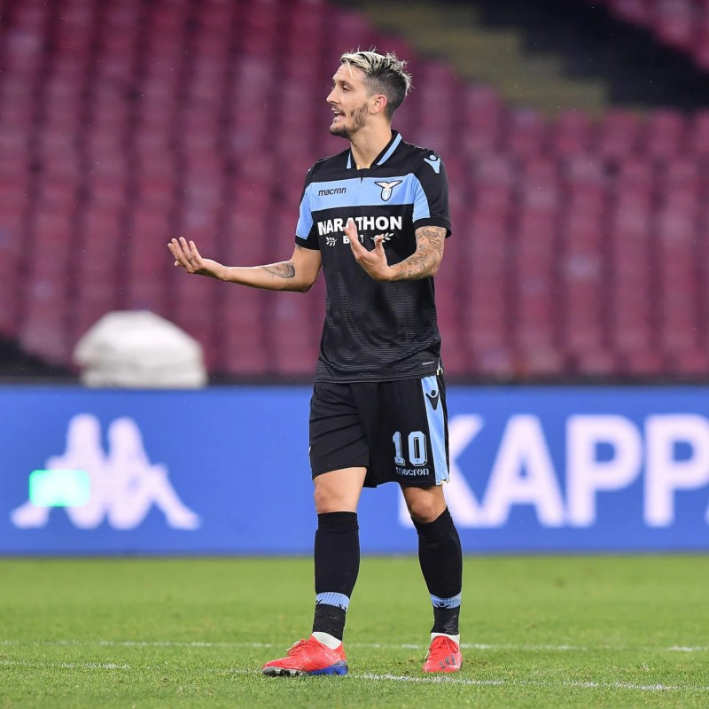 Luis Alberto's Signed Match Shirt, Marseille-Lazio 2018