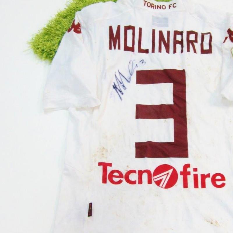 Molinaro match worn shirt, Empoli-Torino, Serie A 14/15 - signed