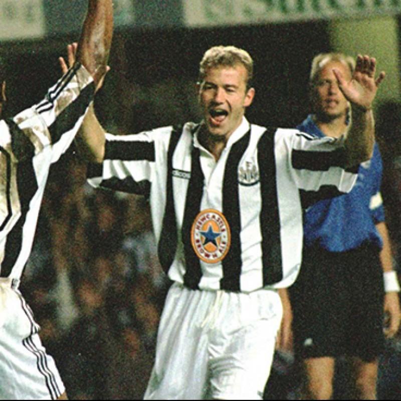 Shearer's Official Newcastle Signed Shirt, 1995 /96