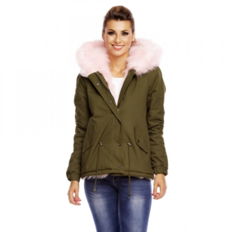 Green Osley Jacket with Pink Fur Donated by Roma Bright