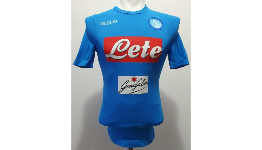 Mertens' Napoli Worn and Signed Shirt, 2016/17