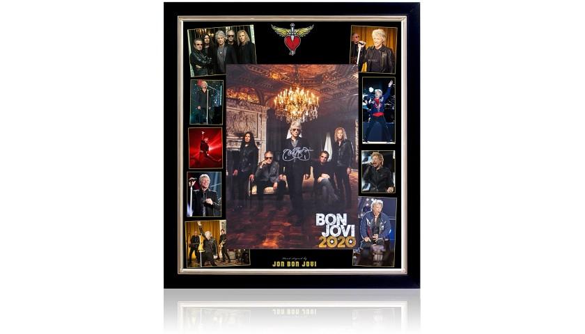 Jon Bon Jovi Large Hand Signed Poster Presentation