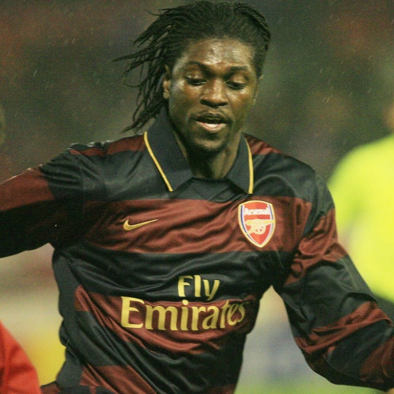 Adebayor's Match-Issue Arsenal 2007/08 Champions League Shirt