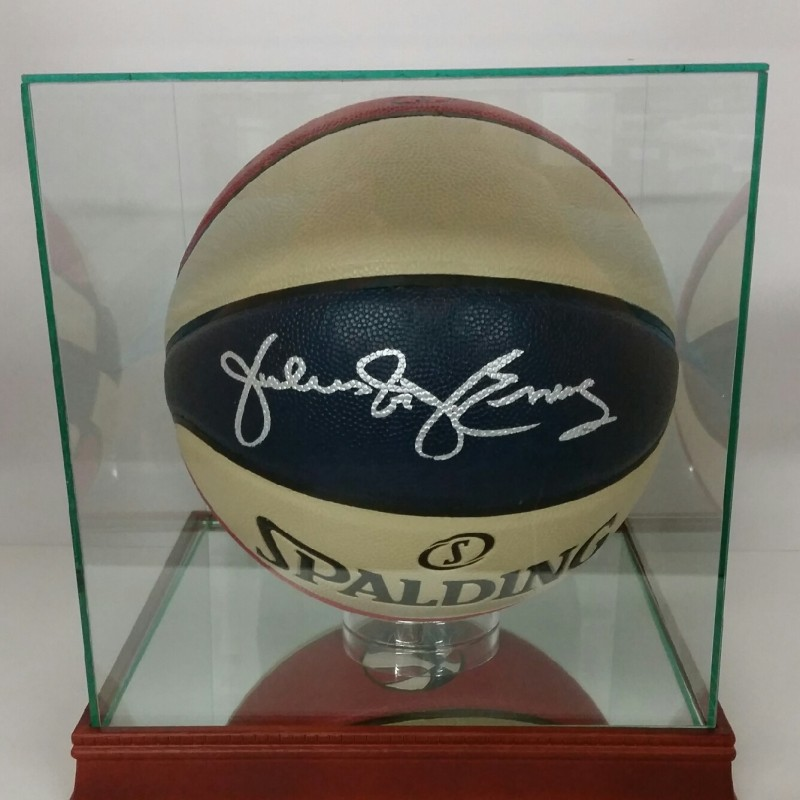 "Julius ""Dr J"" Erving Hand Signed Vintage Throwback ABA Basketball"