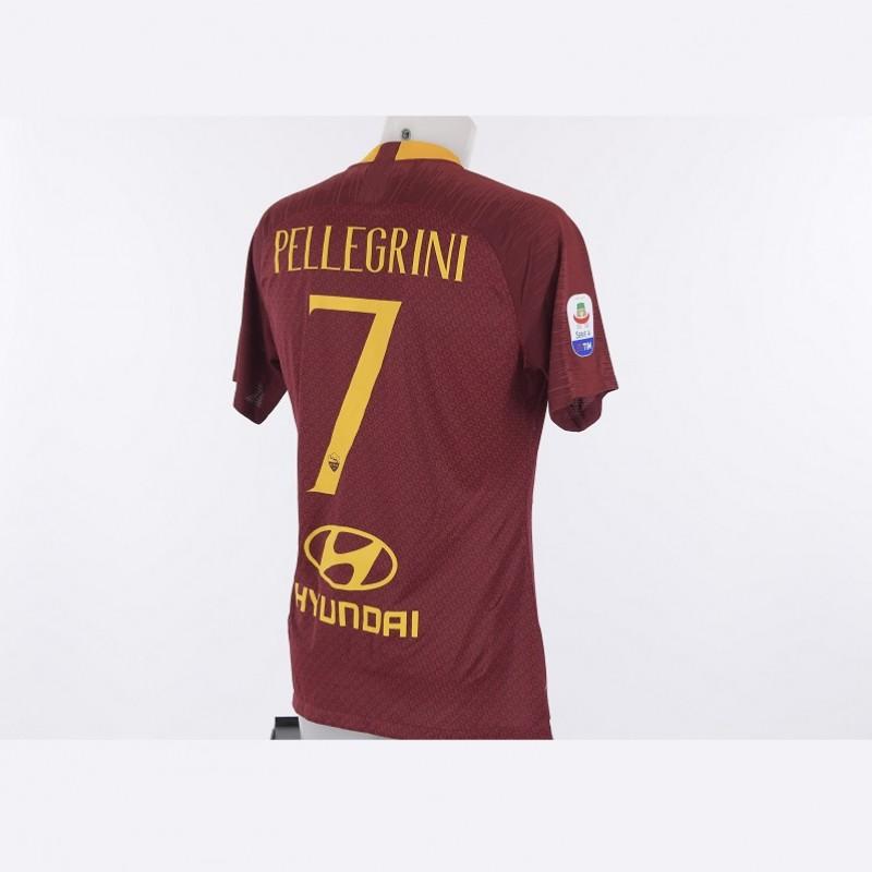 Pellegrini's Worn Roma-Atalanta 2018/19 Shirt