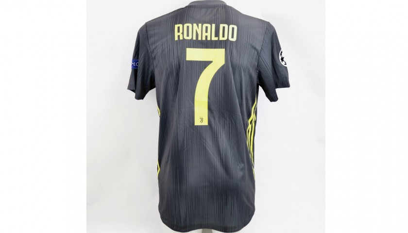 first rate 3c286 9e789 Ronaldo's Juventus Signed Match Shirt, UCL 2018/19 - CharityStars