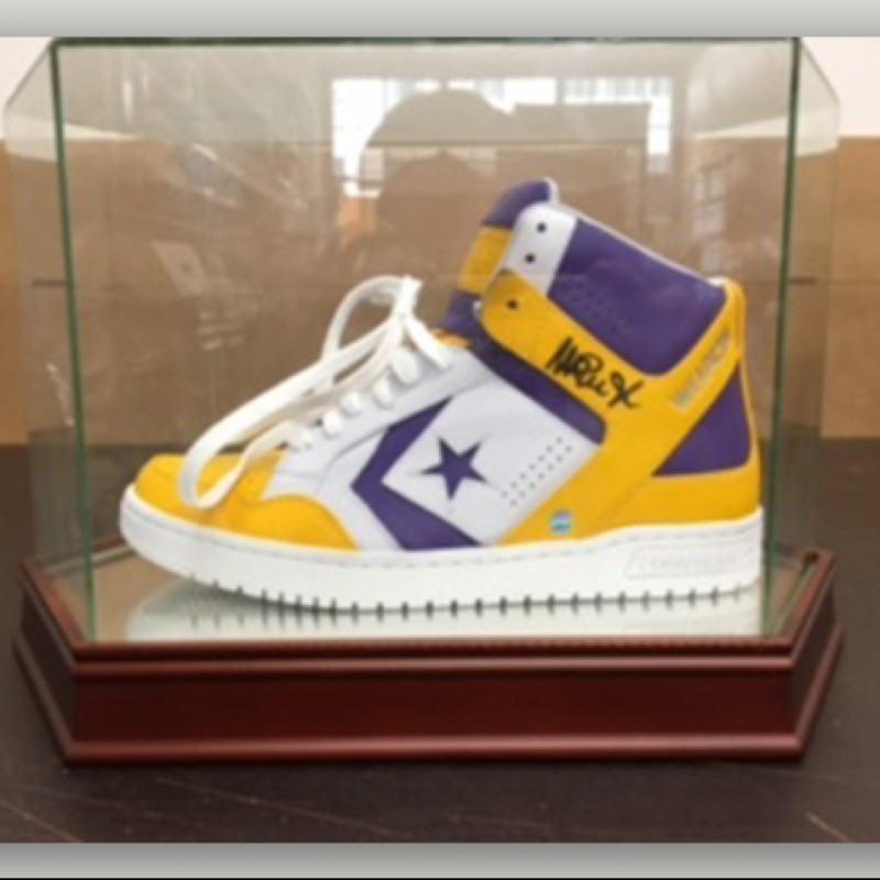Throwback Converse Sneaker Hand-Signed by Magic Johnson