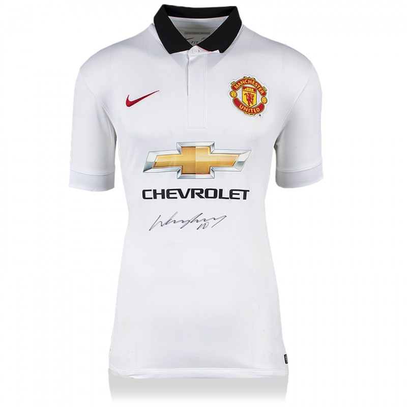 Wayne Rooney Signed Manchester United 2014-15 Away Shirt