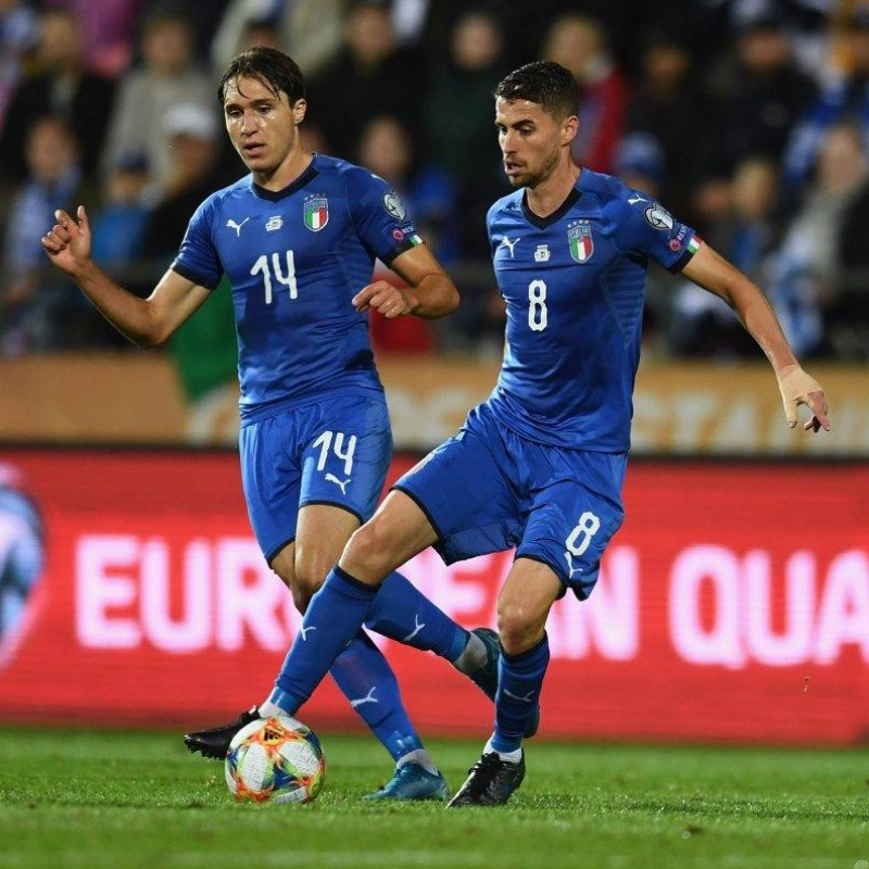Jorginho's Match Shirt, Finland-Italy 2019
