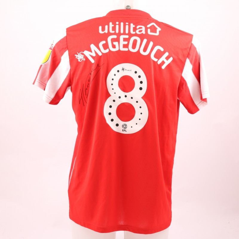 McGeouch's Sunderland AFC Worn and Signed Poppy Shirt
