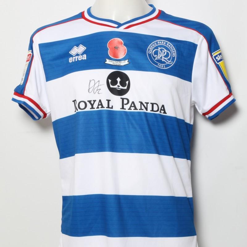 Darnell Furlong s Queens Park Rangers Signed Home Poppy Shirt b01a27fd06ec