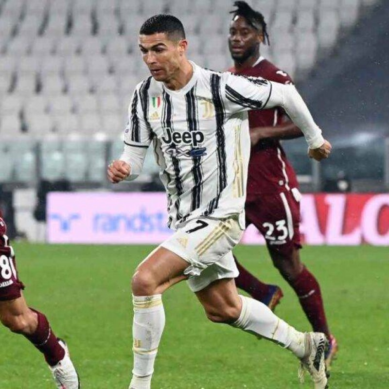 Ronaldo's Signed Match Shirt, Juventus-Torino 2020