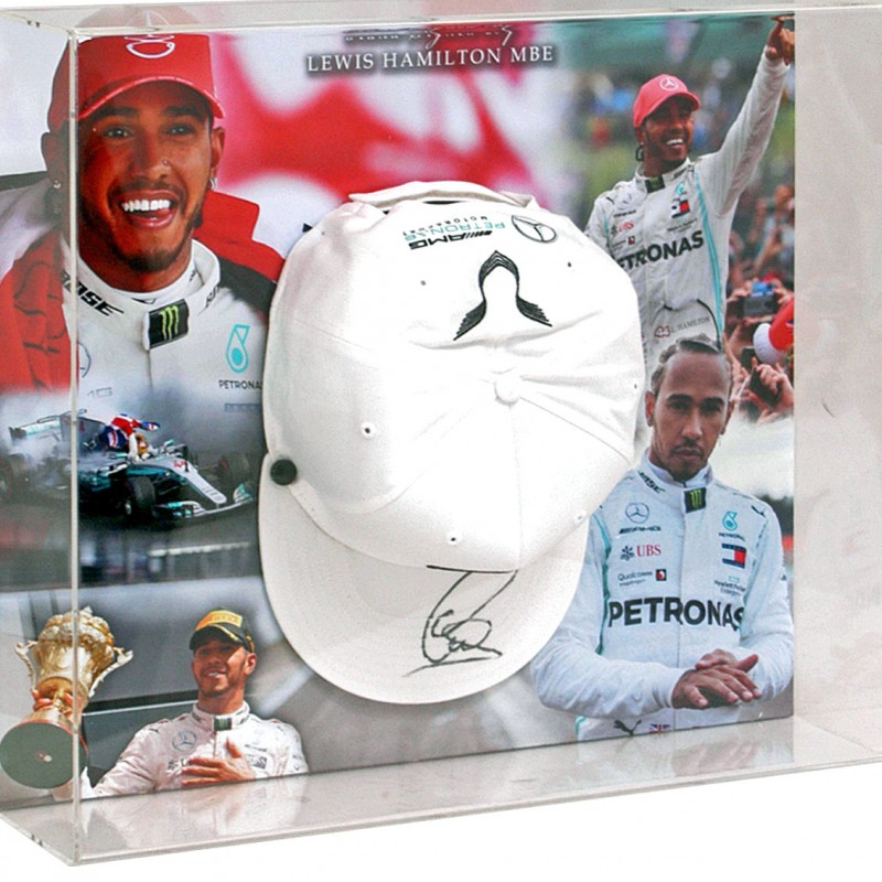 Formula 1 Official Mercedes Cap Hand Signed by Lewis Hamilton
