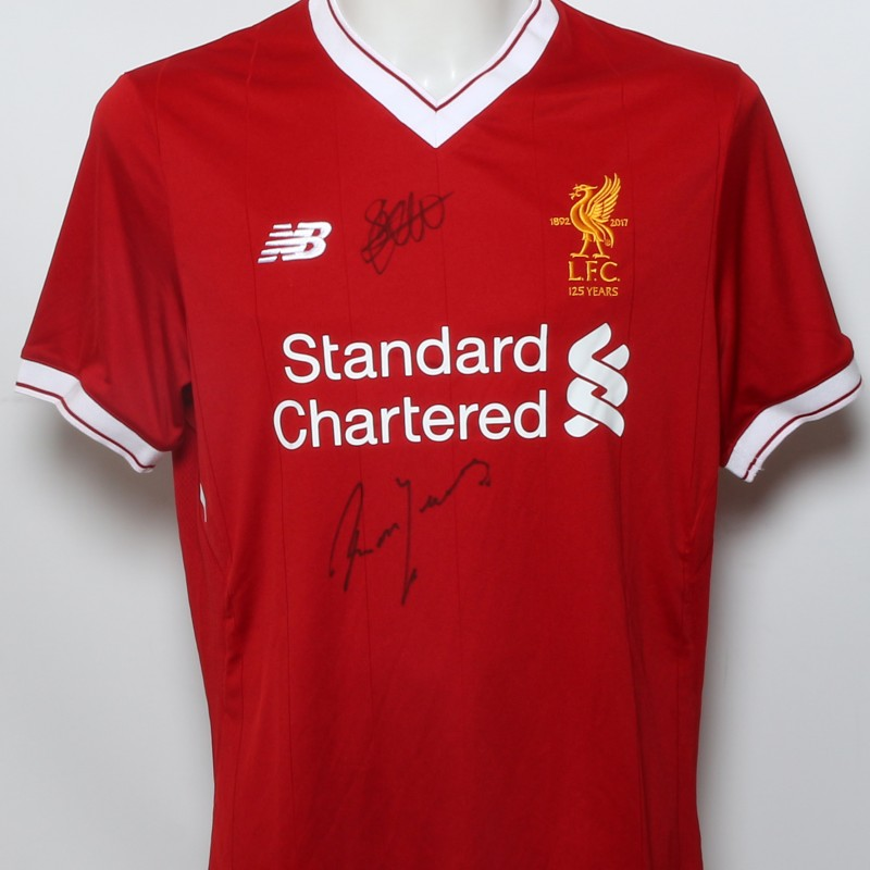 """LFC 125 Shirt """"Defenders Greats"""" Signed by Hyypiä and Yeats"""
