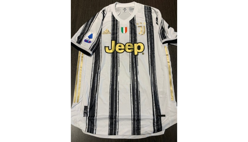 Ronaldo's  Juventus Signed Match Shirt, 2020/21