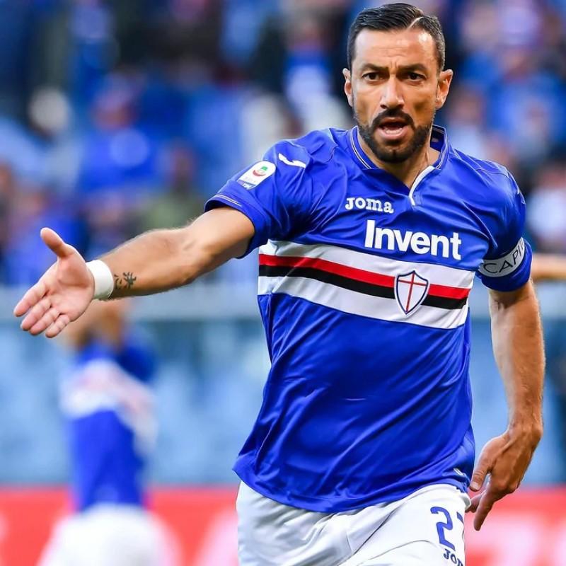 Quagliarella's Sampdoria Match Shirt, Serie A 2018/19