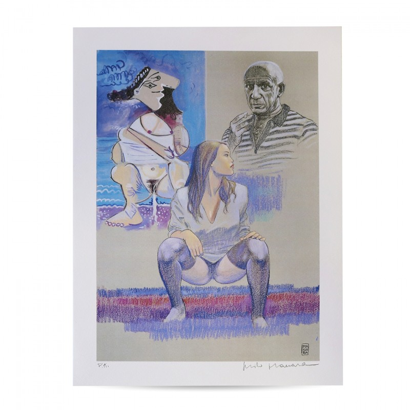 """""""Tribute to Pablo Picasso"""" - Artist's Proof Signed by Milo Manara"""