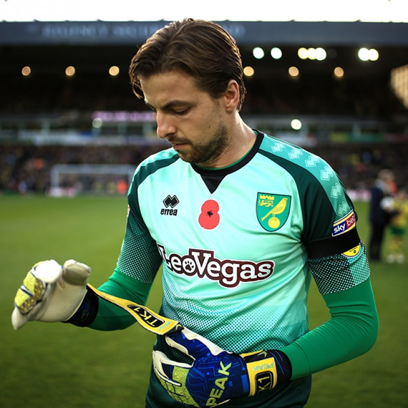 bc95d4140 Krul s Worn and Signed Norwich City Poppy Shirt
