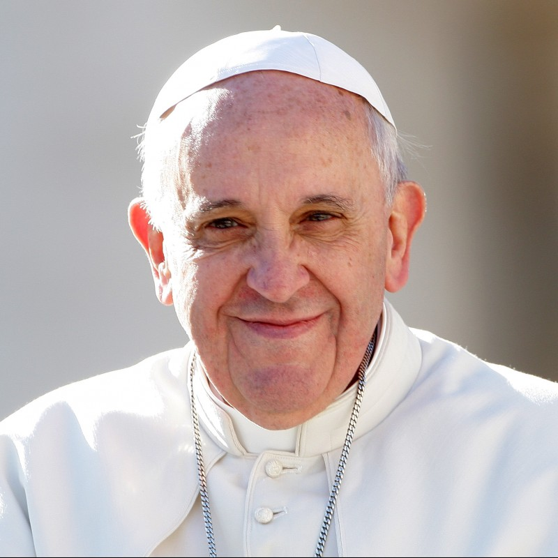 Skullcap Worn and Signed by Pope Francis