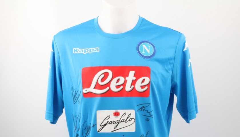 Official SSC Napoli shirt, Serie A 16/17 - signed by team players - CharityStars