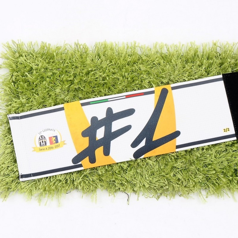 Buffon's Captain Armband, Issued Juventus-Genoa 2016/17