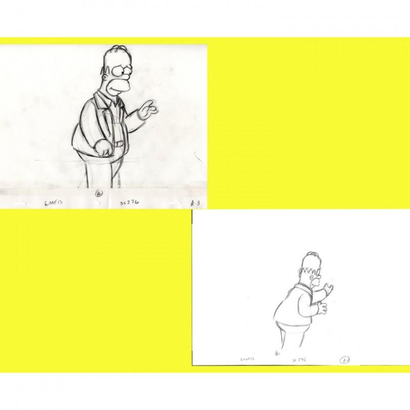 The Simpsons - Original Drawings of Homer Simpson