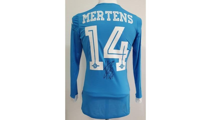 Mertens' Napoli Worn and Singed Shirt, 2015/16
