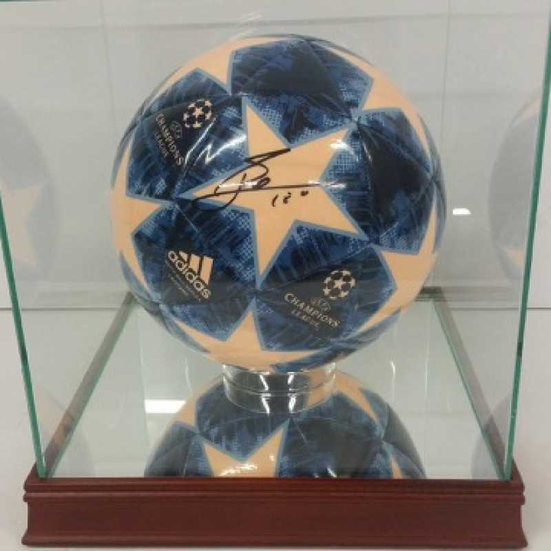 lionel messi hand signed uefa champions league soccer ball charitystars eur