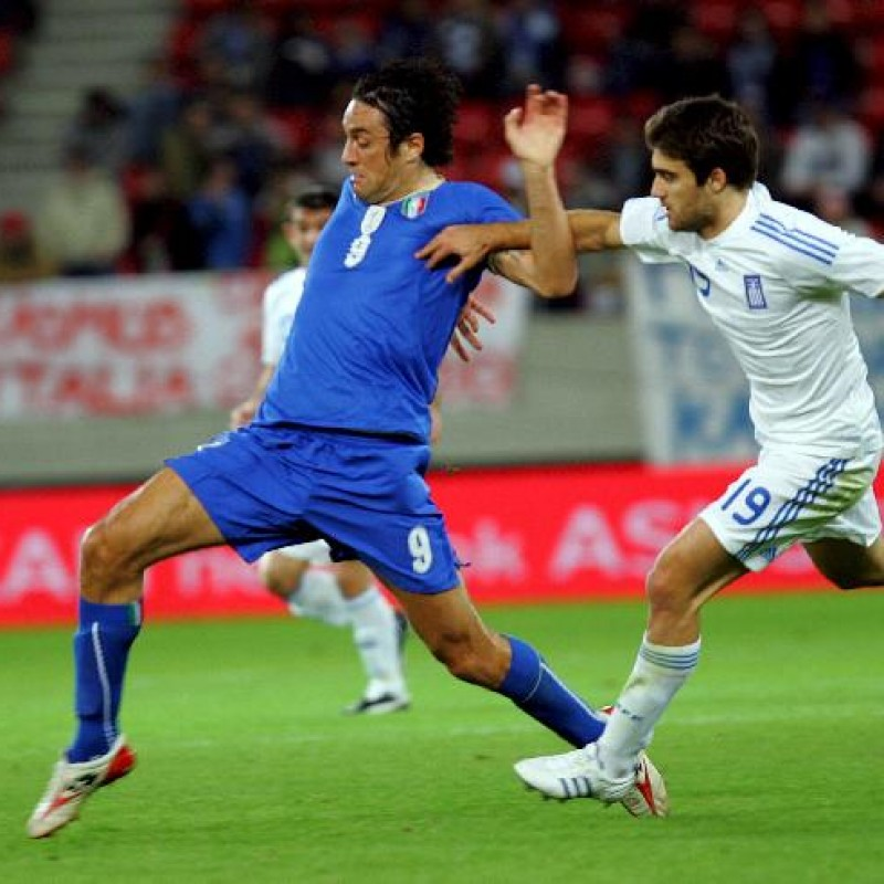Toni's UNWASHED Match-Worn Shirt, 2008 Greece-Italy Friendly