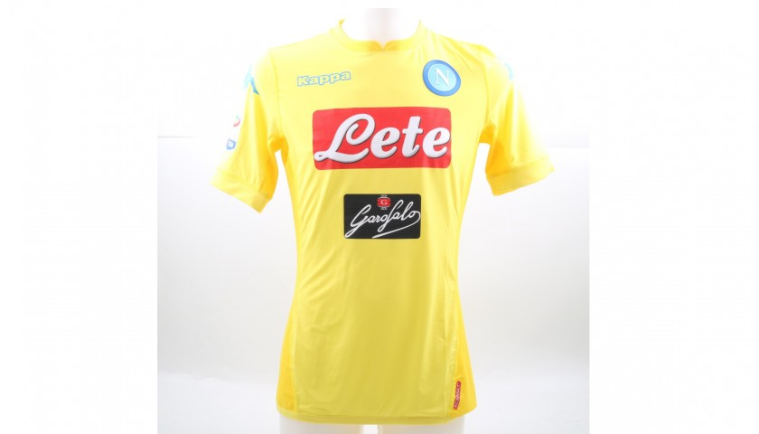 Insigne's Signed Match-Issued 2017/18 Napoli Shirt